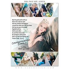 Add senior yearbook template designs to your collection of photography templates. These templates for photographers are a low cost product offering that will will help bring in big sales with your local senior market. Senior Yearbook Ads, Yearbook Pages, Yearbook Spreads, Yearbook Layouts, High School Yearbook, High School Seniors, Yearbook Ideas, Yearbook Design, Yearbook Template