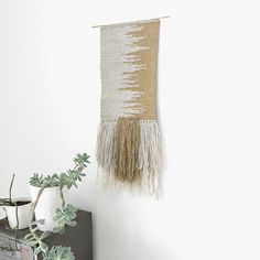 handwoven wall hanging tapestry weaving no. 012215 by ohalbatross