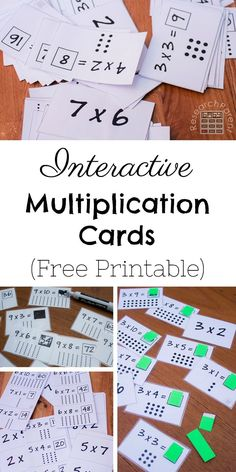 Free, printable interactive multiplication flashcards make memorizing math facts fun. Flaps and whiteboard markers make learning the multiplication tables more enjoyable for kids. Multiplication & Division for Kids Fun Math Games, Math Activities, Division Activities, Learn Math Online, Math Multiplication, Multiplication Flash Cards Printable, Learning Multiplication Tables, Homeschool Math, Homeschooling