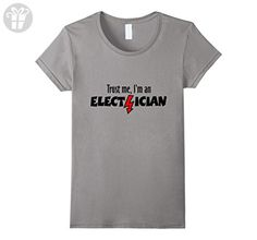 Women's Trust me, I'm an Electrician T-Shirts Small Slate (*Amazon Partner-Link)