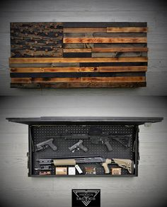 Hidden Gun Case The Torched American Flag RAISED