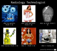 Radiology technologist, What people think I do, What I really do meme image - uthinkido.com