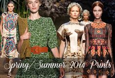 Spring/ Summer 2014 Print Trends   Fashion Trends, Makeup Tutorials, Hairstyles and Style Secrets