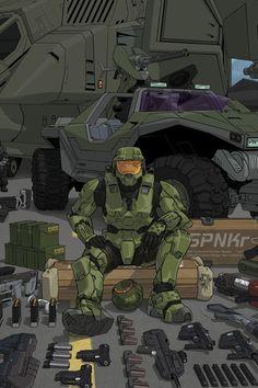 Just got back into Halo 4 a bit #HeadHuntingMachine #HandMeTheBR
