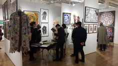 POLYSEMIE booth at Outsider Art Fair in New York