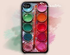 iPhone 4 Case  Watercolor painting Box palette Design by Sevinoma, $9.99