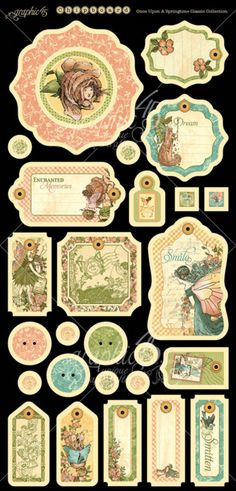 The chipboard from our new Deluxe Collector's Edition, Once Upon a Springtime! Look for it in stores in mid-February 2015 #graphic45 #sneakpeeks