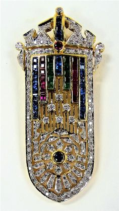 Lot: 18KT YG DIAMOND & GEMSTONE ENCRUSTED PENDANT, Lot Number: 0038A, Starting Bid: $1,600, Auctioneer: Auction Gallery of Boca Raton, LLC, Auction: Boca Raton's 2017 New Years Estate Auction, Date: January 1st, 2017 GMT