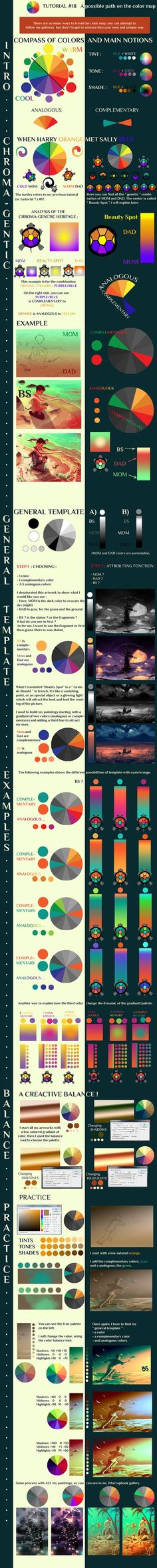A really fantastic color theory tutorial showing the relation of colors. And turtles! And genetics!