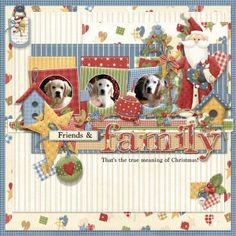Country Christmas layout of my family.  Country Santa and elements decorate this family tree! FQB - Glad Tidings Collection from Nitwit Collections