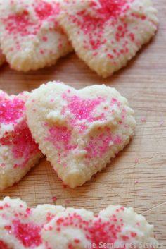 Valentine's Day Heart Shaped Spritz Cookies.