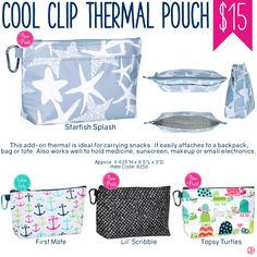 Thirty-One Cool Clip Thermal Pouch - Spring/Summer 2017