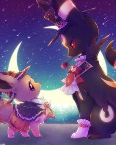 Halloween eevee and umbreon Gif Pokemon, Pokemon Pins, Pokemon Memes, Cool Pokemon, Evoluções Eevee, Eevee Evolutions, Digimon, Pokemon Especial, Chibi