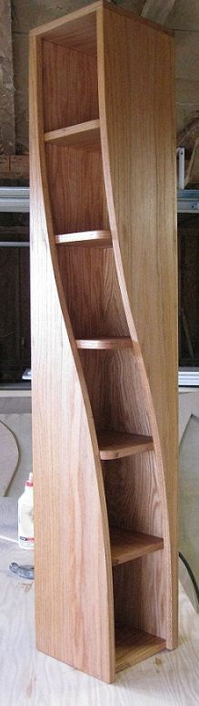 Handmade 5ft oak Bookshelf with a twist by WoodCurve on Etsy, $469.99