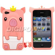 LIGHT PINK CUTE 3D PIG DESIGN COOL CASE COVER SKIN FOR APPLE IPHONE 4 4G 4S | eBay
