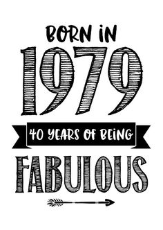 Verjaardagskaart born in 1979 - 40 years of being fabulous - 40th Birthday Quotes, 40th Birthday Cards, 40th Birthday Invitations, Happy 40th Birthday, 40th Birthday Parties, 40 Birthday, 40th Bday Ideas, 50th Birthday Decorations, 40 Y Fabuloso