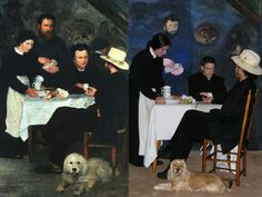 Tableau Vivant of a Renoir painting
