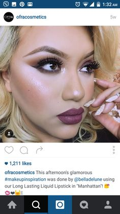 #ofracosmetics #lip #swatch #mauve