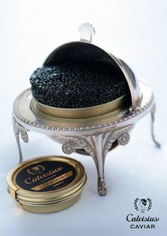 Russian Caviar: White Sturgeon Caviar 1 Ounce Tin      Delicious and creamy-tasting caviar, characterized by a color ranging from dark-brown to grey and lightly amber. This caviar is obtained from the White Sturgeon (Acipenser Transmontanus) i.e. the biggest sized sturgeon after the Beluga.   See more: http://www.facebook.com/pages/Russian-Dating/539187666095750  #russiancaviar #delicious