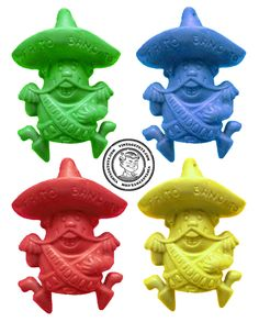 Frito Bandito Pencil Toppers - I remember getting these in my Frito's Bag