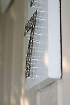 DIY: string art house numbers