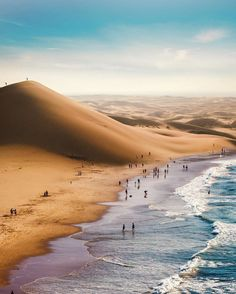 """""""Namibia: Where the Namib Desert meets the Sea"""" Namibia Africa, Beautiful World, Beautiful Places, Namib Desert, Surreal Photos, The Beach, Africa Travel, Beautiful Landscapes, Picture Photo"""