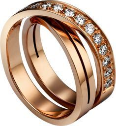 Paris Nouvelle Vague ring Pink gold, diamonds