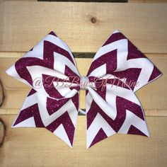 0a53c526e4 Full Sparkle Chevron Cheer Bow by B3BowsMaine on Etsy Bling Cheer Bows