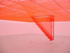 Translucent Red Staircase by Do-Ho Suh