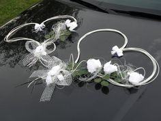 svatební srdce Wedding Car Decorations, Weeding Dress, Wreaths, Weddings, Boyfriends, Wedding, Car Decorating, Door Wreaths, Deco Mesh Wreaths