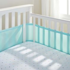 Aqua Mist | Solids Collection | Breathable Mesh Crib Liner