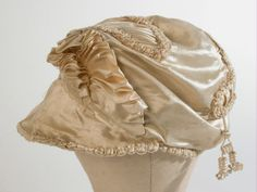 Hat, 1800 - 1810. Metal, Satin. National Trust Collections.