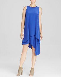 Eileen Fisher Double Layer Silk Dress