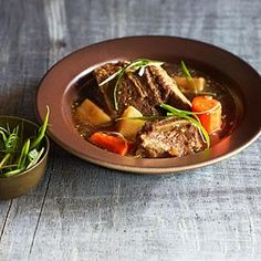 Korean-Style Braised Short Ribs and Turnips | MyRecipes.com--sub soy and sesame