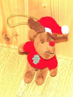Handmade Christmas Hanging Reindeer Soft Toy-BNWT