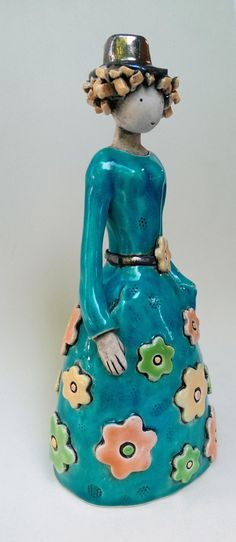 The Flower Lady ceramic sculpture art sculpture clay