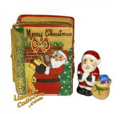 Santa's Christmas Book, Santa Inside Limoges Box (Beauchamp)