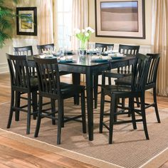 lakeside counter height extendable dining table - Black Kitchen Tables