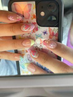Cute Acrylic Nail Designs, Best Acrylic Nails, Simple Acrylic Nails, Jolie Nail Art, Acylic Nails, Nail Ring, Funky Nails, Edgy Nails, Fire Nails