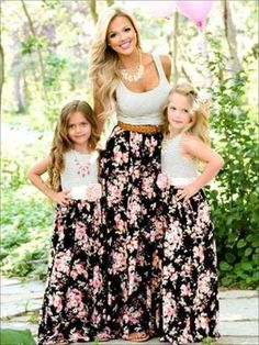 Family Matching Outfits Mother And Daughter In Summer New White Speaker Sleeves Dress In The Long Skirt Mom And Girl Dress Lustrous Mother & Kids
