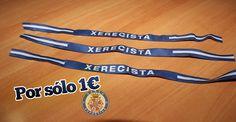 Pulsera xerecista del Xerez Deportivo FC. La puedes conseguir en la oficina del club por sólo un euro.