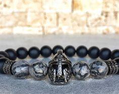 Bracelet spartiate pour homme Bracelet dOnyx pour par Miaudesignco