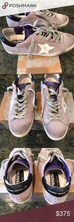 Golden Goose Superstar Sneakers Size 37 In Glicine Golden Goose Superstar Sneakers in size 37. Color is Glicine which is like a lavender color. These are in excellent condition as I only wore them a handful of times. Small scuffs on black leather on the back. Paid $575. Golden Goose Shoes Sneakers