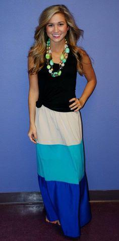 Beach Bum Maxi Skirt Blue