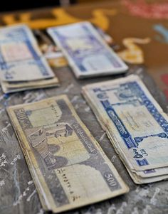 File:Afghanis, or Afghan currency, are arranged on the desk of the Shah Joy district chief of police to pay members of the Afghan Local Police (ALP) at the Shah Joy district center in Zabul province, Afghanistan Local Police, Public Domain, Afghanistan, The Creator, Objects, Joy, Desk, Personalized Items, Prints
