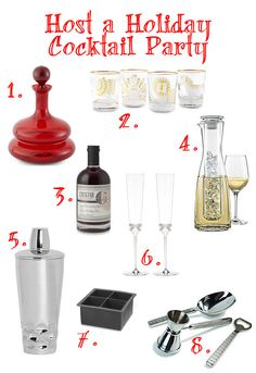 No #cocktail #party is complete without #drinks, #glasses and a good #cocktail mixer. Learn how to host an entertaining holiday #party!