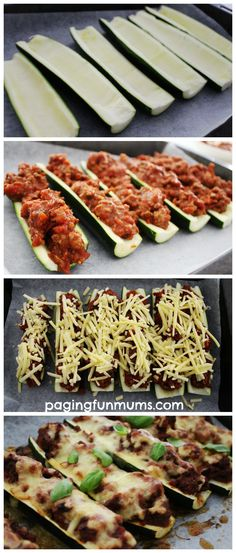 Zucchini Bolognese Boats. A delicious and healthy family meal.
