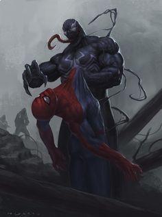 Venom vs Spider-man by Francisco Miyara