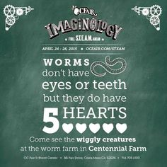 Did you know that worms don't have eyes or teeth? They have (5) hearts. #steam #stem