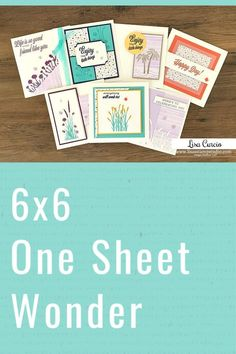 Looking for a 6 x 6 one sheet wonder? This free template will get you 7 greeting cards you can make in minutes. Free template to download included! Get started at www.LisasStampStudio.com #6x6onesheetwonder #onesheetwonder #cardmaking #cardmakingtutorials #cardmakingideas #diycards #handmadecards #greetingcards #stampinup #stampinupcards #friendlikeyoustampinup #stampinupfriendlikeyou #lisacurcio #lisasstampstudio Card Making Supplies, Card Making Tutorials, Card Making Techniques, Making Cards, Craft Supplies, Handmade Cards For Friends, Greeting Cards Handmade, Step Cards, Diy Cards